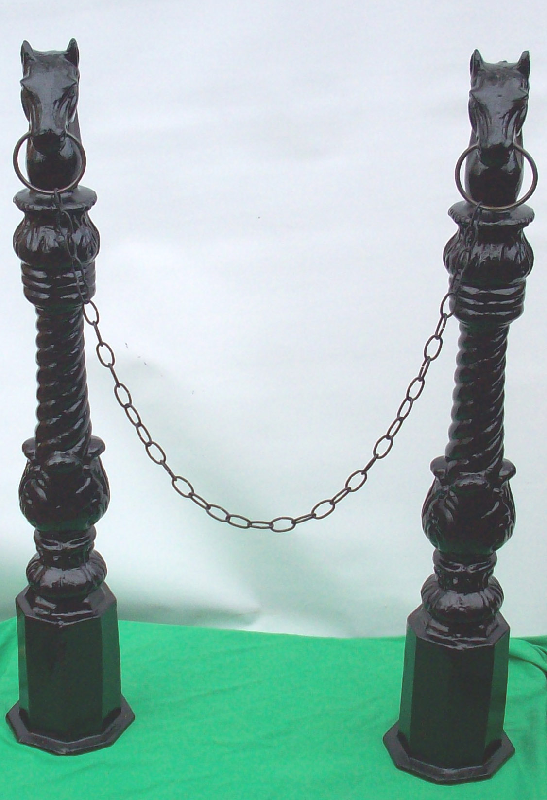 Horse Hitching Posts Antique Horsehead